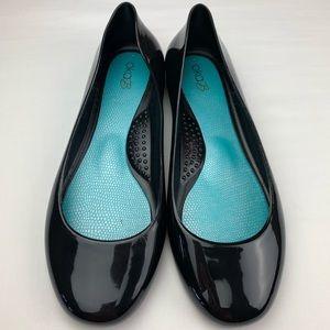 Oka-B Taylor Shiny Ballet Flats Black Licorice